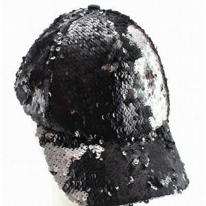 STEVE MADDEN•Black sequin adjustable cap•NWT•